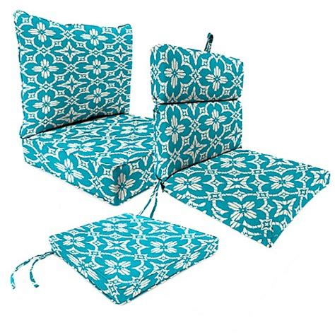 outdoor patio cushions in aspidora turquoise bed bath
