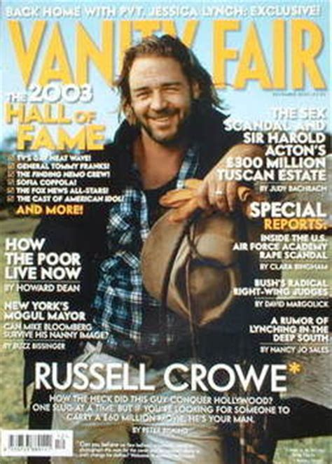 vanity fair magazine crowe cover december 2003