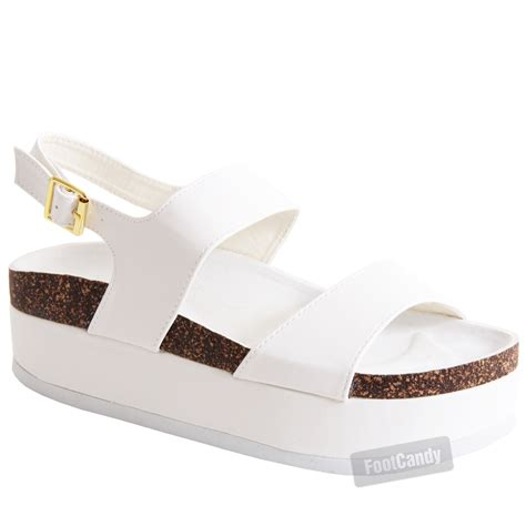 womens platform sandals womens slip on chunky footbed wedge flatform