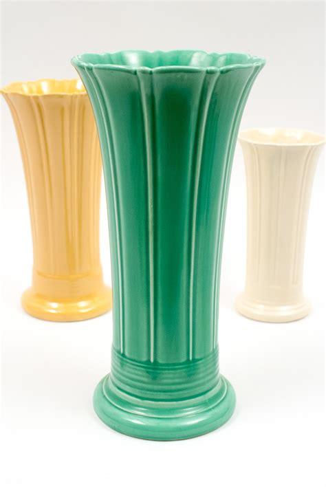 Fiestaware Vase by Vintage 12 Inch Original Ivory Fiestaware Pottery