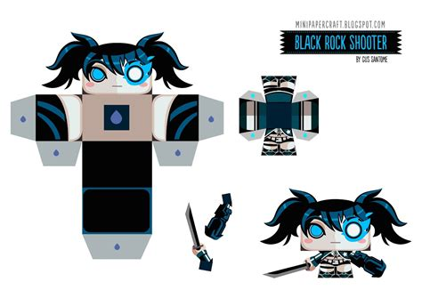 Black Rock Shooter Papercraft - mini papercraft black rock shooter