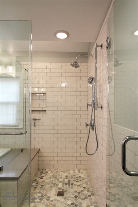 subway tile bathroom shower fabulous bathroom walkin shower white subway tile about modern walk in shower master