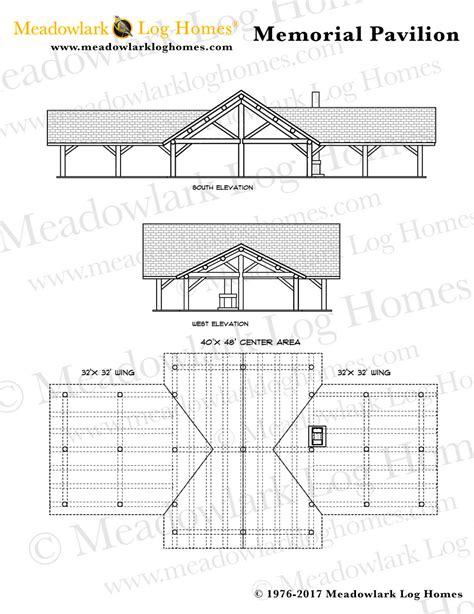 pavilion designs and plans memorial log pavilion meadowlark log homes