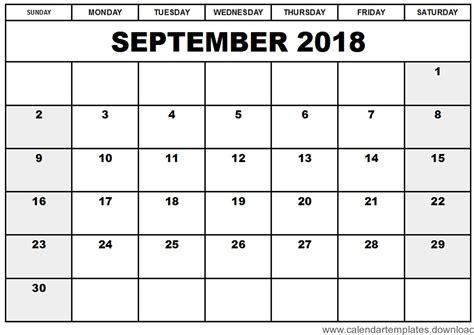 printable calendar september 2018 printable calendar september 2018 template download free