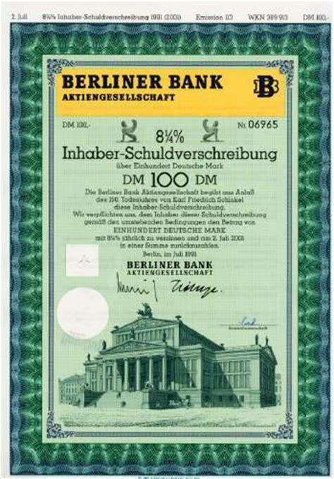 banking berliner bank hwph ag historische wertpapiere berliner bank