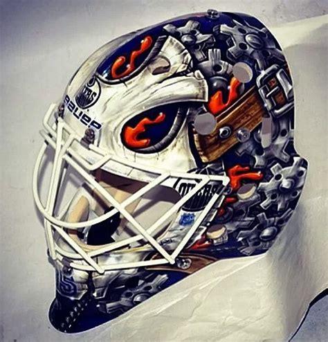 goalie helmet design ideas viktor fasth new edmonton goalie mask masks designs