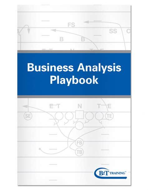 Business Analysis Playbook   B2T Training