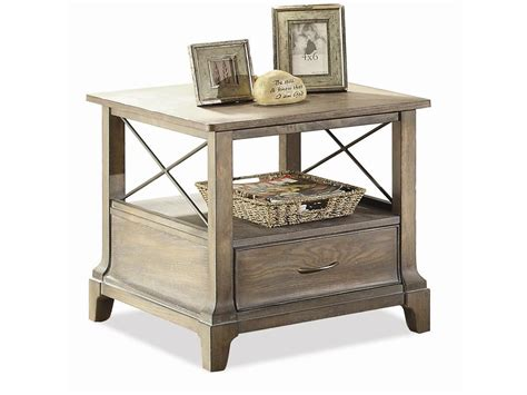 End Tables Living Room Riverside Living Room X End Table 50707 Furnitureland Delmar Delaware