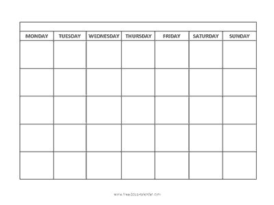 printable monthly calendar 2015 starts on monday blank calendar monday start calendar
