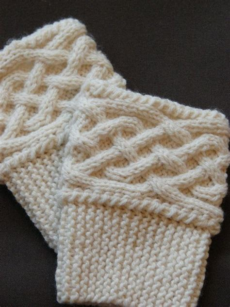 knit and knot knit boot cuff topper celtic knot
