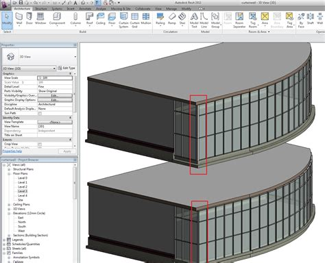 Curtain Wall Mullion Corners In Revit Bimopedia