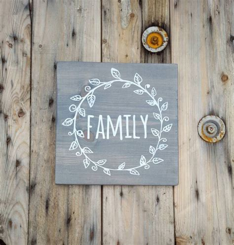 family sign wooden sign rustic home decor wood sign