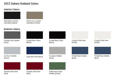 2015 subaru outback colors 2015 subaru outback paint colors