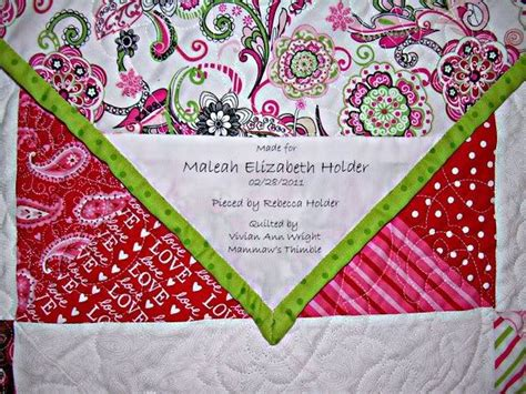 Free Quilt Labels by Quotes For Quilt Labels Quotesgram