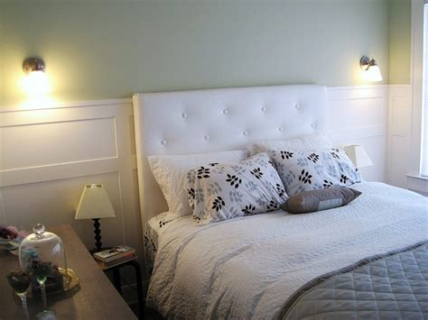 wainscoting headboard wainscoting headboard bedroom sconces master bedroom