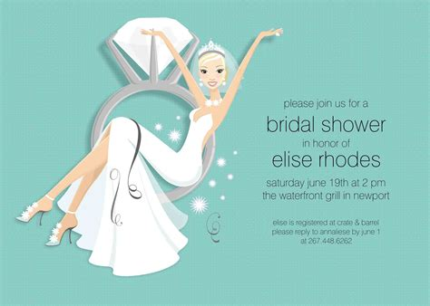 wedding shower invitation sample invitation templates