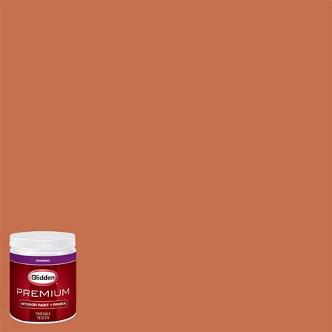 glidden premium 8 oz hdgo34 peking orange eggshell interior paint with primer tester hdgo34p