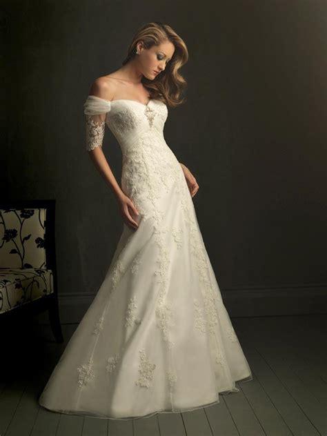 ivory v neck off shoulder unique wedding dresses with