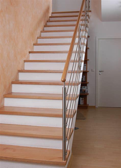 handlauf treppe holz betontreppen mit holz kliegl treppenbau