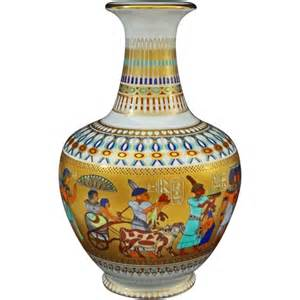 Vintage Pottery Vase Kaiser Theben Porcelain Vase Egyptian Pharaoh Tutankhamun
