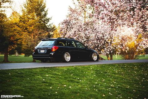 subaru wagon stanced getting it jay s bagged subaru legacy outback