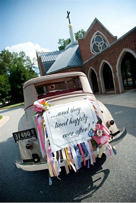 cer decorating ideas 34 best just married images on wedding cars