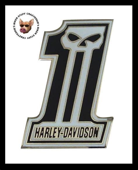 harley davidson number one skull harley davidson number 1 skull vest pin brand new