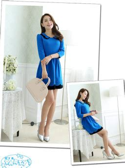 Dress Baju Korea Lengan Panjang Murah Kb075 mini dress korea lengan panjang jual model
