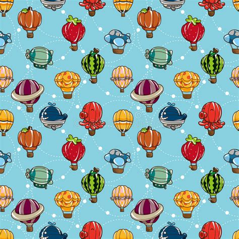 download pattern paper of pneumatic zig zag lift project seamless hot air balloon pattern royalty free stock images