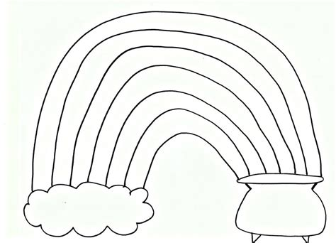 Pom Pom Rainbow Craft For St Patrick S Day Free Rainbow And Pot Of Gold Coloring Pages