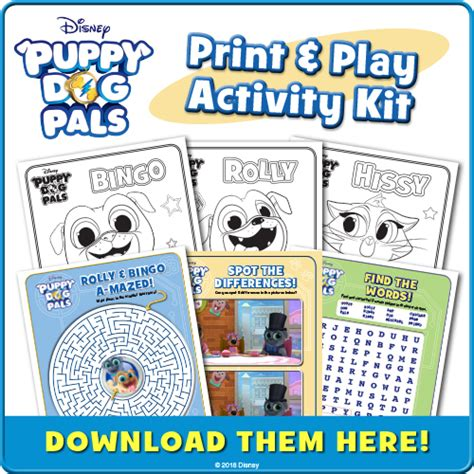 puppy pals dvd disney puppy pals dvd now available plus bingo and rolly coloring sheets