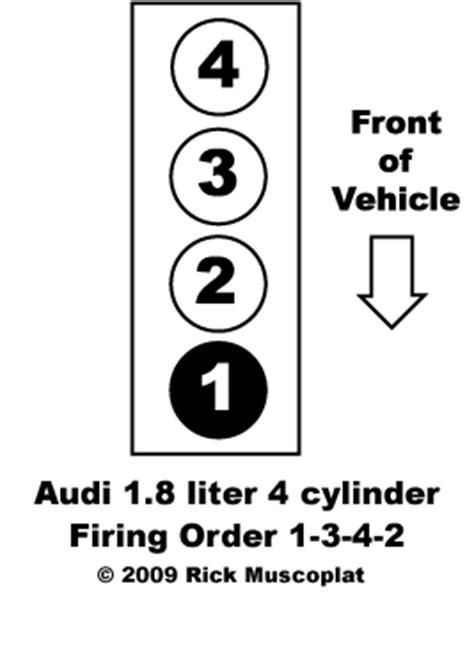 Audi Firing Order - 1.8L 4 cylinder Ricks Free Auto Repair