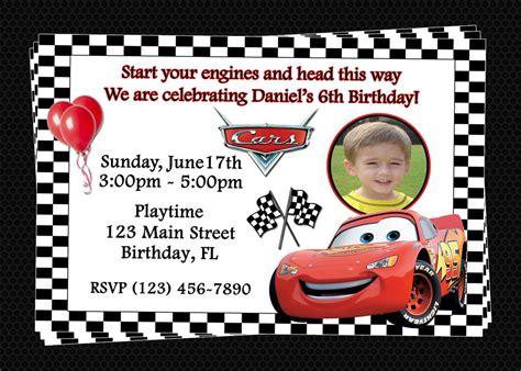 cars invitation card template free printable birthday invitations cars disney birthday