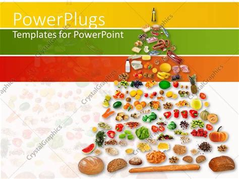 0 point fruits and vegetables powerpoint template pyramids of fruits and vegetables 12805