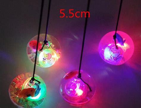 5 5cm Led Flash Bouncing Ball Luminous Transparent Rubber Light Up Balls On String