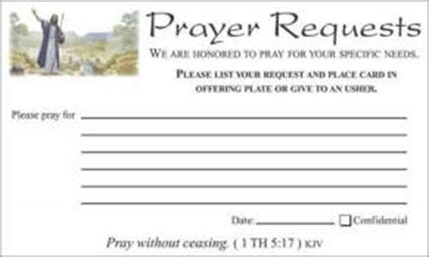 Prayer Request Cards 4x4 Template by Christian Witness Cards Prayer Request Cards