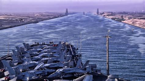 u s aircraft carrier transit of the suez canal