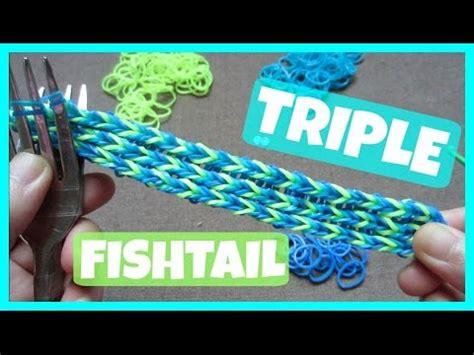rainbow loom bracelet fishtail without loom on 2