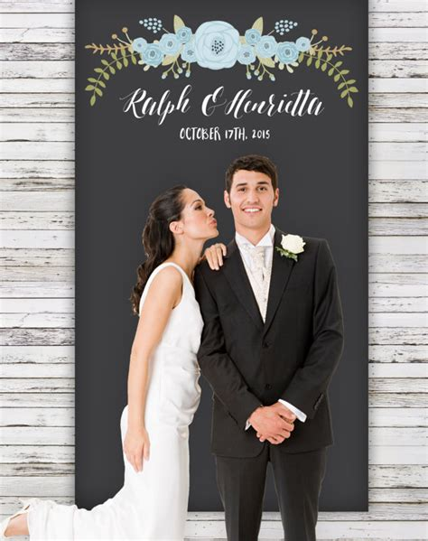 Wedding Banner With Photo by Rustic Wedding Backdrop 4x7 Vinyl Wedding By
