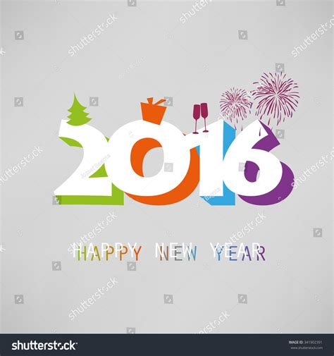 New Year Card Template 2016 by Simple Colorful New Year Card Cover Or Background Design