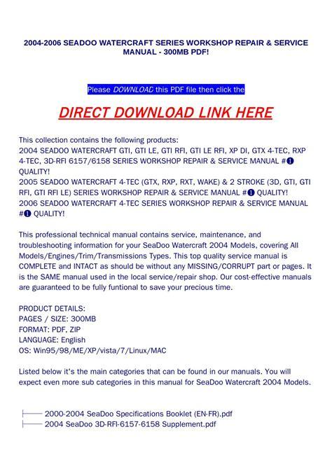 01 Sea Doo Gtx Wiring Diagram Wiring Library