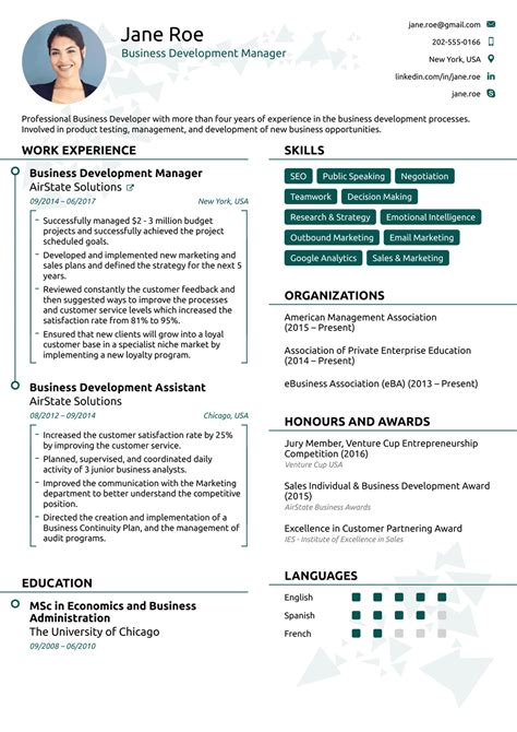 Modern Resume Template by 2018 Professional Resume Templates As They Should Be 8