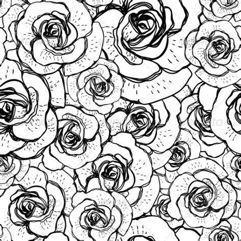 black and white rose pattern seamless black and white background with roses by depiano