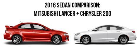 2016 sedan comparison mitsubishi lancer and chrysler 200