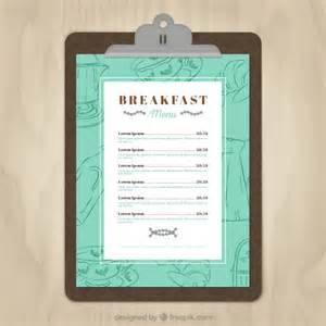 brunch menu template breakfast menu template vector free
