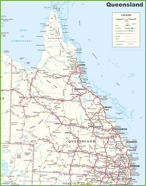 printable road maps australia large detailed map of queensland with cities and towns