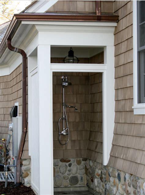 copper outdoor showers outdoor shower foundation cape cod lantern