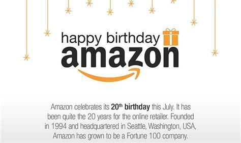 happy birthday amazon infographic visualistan