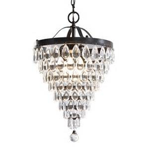 Raindrop Crystal Chandelier Shop Style Selections 3 Light Antique Bronze Crystal
