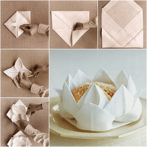 Paper Napkin Folding Flower - pin by allaboutpinterest on awesome diy s